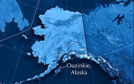 Ouzinkie Alaska Map